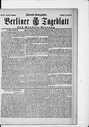 Berliner Tageblatt und Handels-Zeitung vom 02.06.1903