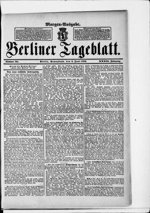 Berliner Tageblatt und Handels-Zeitung vom 06.06.1903