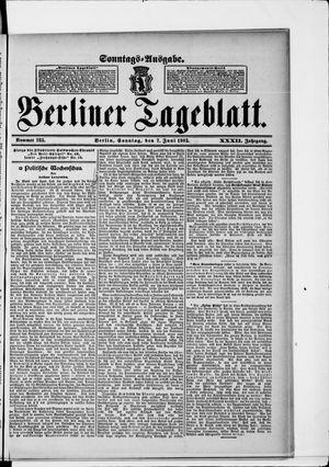 Berliner Tageblatt und Handels-Zeitung vom 07.06.1903
