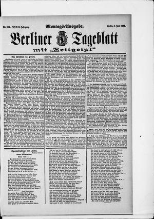 Berliner Tageblatt und Handels-Zeitung vom 08.06.1903
