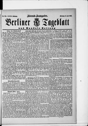 Berliner Tageblatt und Handels-Zeitung on Jun 10, 1903