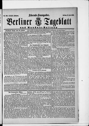 Berliner Tageblatt und Handels-Zeitung vom 12.06.1903