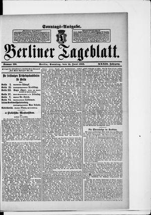 Berliner Tageblatt und Handels-Zeitung vom 14.06.1903