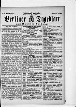 Berliner Tageblatt und Handels-Zeitung vom 17.06.1903