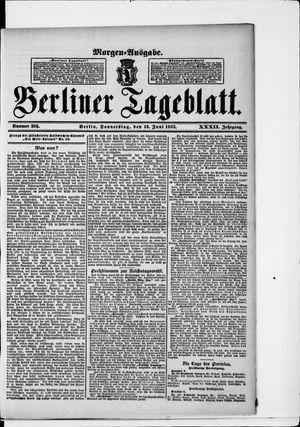 Berliner Tageblatt und Handels-Zeitung vom 18.06.1903