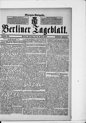 Berliner Tageblatt und Handels-Zeitung vom 19.06.1903