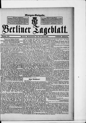 Berliner Tageblatt und Handels-Zeitung vom 20.06.1903