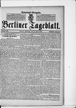 Berliner Tageblatt und Handels-Zeitung vom 21.06.1903