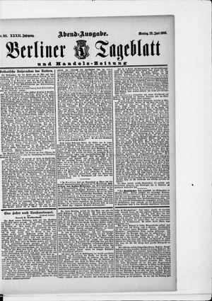 Berliner Tageblatt und Handels-Zeitung vom 22.06.1903