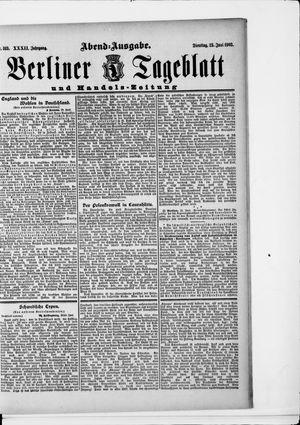 Berliner Tageblatt und Handels-Zeitung vom 23.06.1903