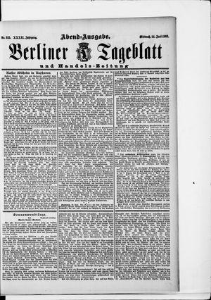 Berliner Tageblatt und Handels-Zeitung vom 24.06.1903