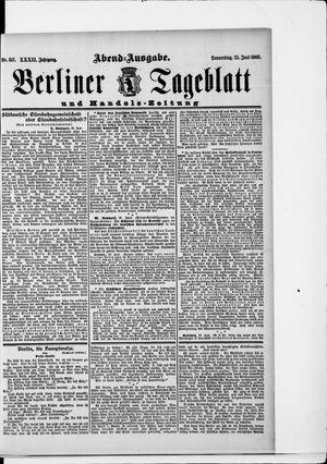 Berliner Tageblatt und Handels-Zeitung vom 25.06.1903