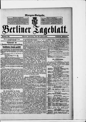 Berliner Tageblatt und Handels-Zeitung vom 26.06.1903