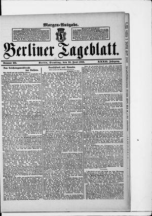 Berliner Tageblatt und Handels-Zeitung vom 30.06.1903