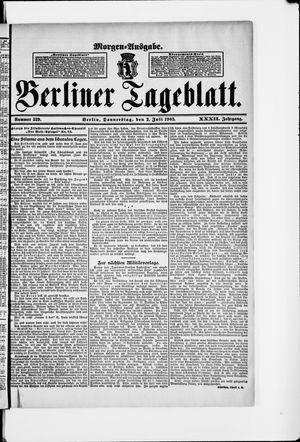 Berliner Tageblatt und Handels-Zeitung vom 02.07.1903