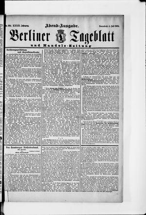 Berliner Tageblatt und Handels-Zeitung vom 04.07.1903