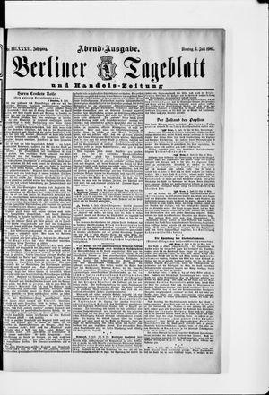 Berliner Tageblatt und Handels-Zeitung on Jul 6, 1903