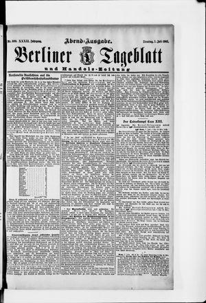 Berliner Tageblatt und Handels-Zeitung vom 07.07.1903