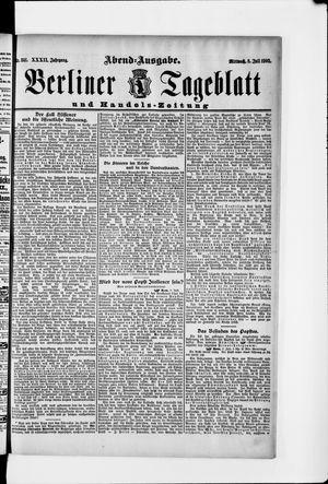 Berliner Tageblatt und Handels-Zeitung vom 08.07.1903