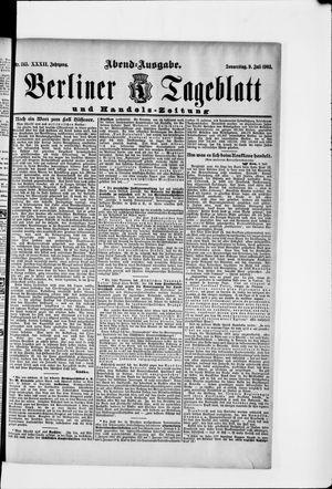 Berliner Tageblatt und Handels-Zeitung vom 09.07.1903