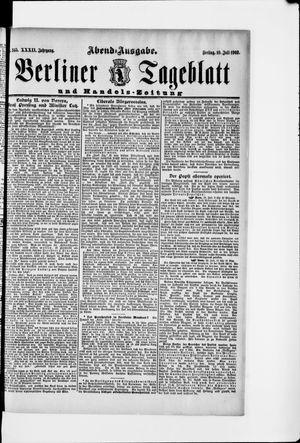 Berliner Tageblatt und Handels-Zeitung vom 10.07.1903
