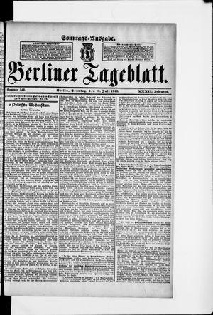 Berliner Tageblatt und Handels-Zeitung vom 12.07.1903