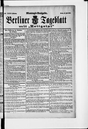 Berliner Tageblatt und Handels-Zeitung vom 13.07.1903
