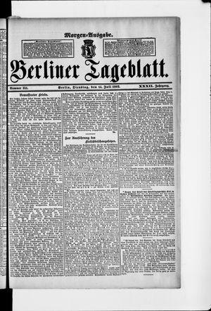 Berliner Tageblatt und Handels-Zeitung vom 14.07.1903