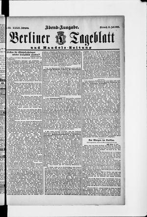 Berliner Tageblatt und Handels-Zeitung vom 15.07.1903