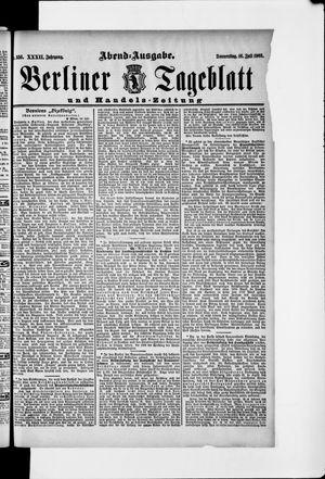 Berliner Tageblatt und Handels-Zeitung on Jul 16, 1903