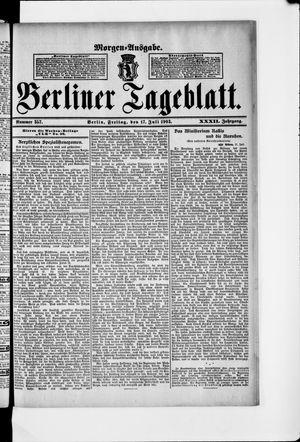 Berliner Tageblatt und Handels-Zeitung vom 17.07.1903