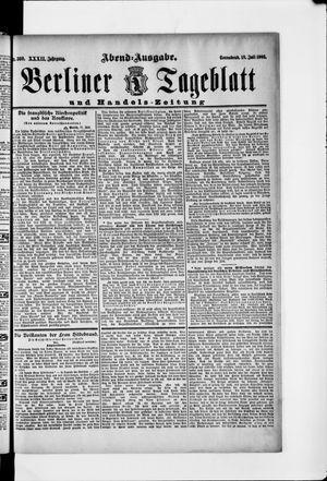 Berliner Tageblatt und Handels-Zeitung vom 18.07.1903