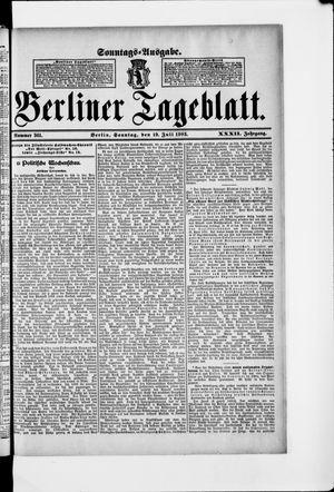Berliner Tageblatt und Handels-Zeitung on Jul 19, 1903