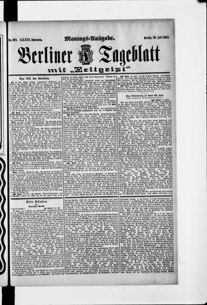 Berliner Tageblatt und Handels-Zeitung vom 20.07.1903