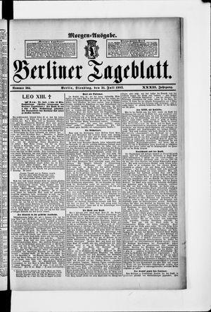 Berliner Tageblatt und Handels-Zeitung vom 21.07.1903