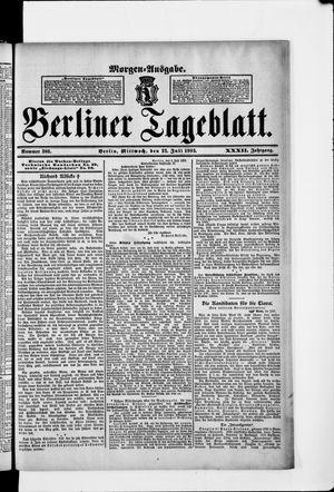 Berliner Tageblatt und Handels-Zeitung vom 22.07.1903