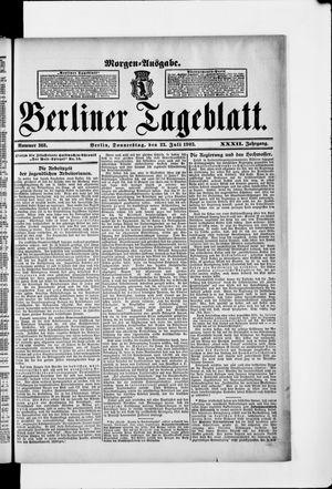 Berliner Tageblatt und Handels-Zeitung vom 23.07.1903