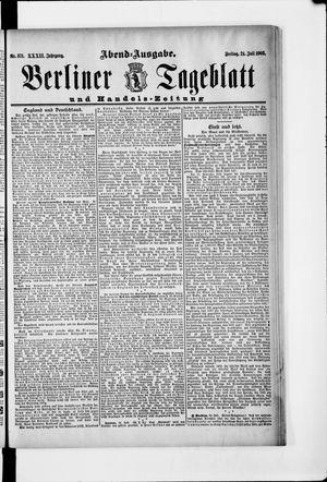 Berliner Tageblatt und Handels-Zeitung vom 24.07.1903