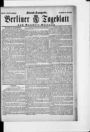 Berliner Tageblatt und Handels-Zeitung vom 25.07.1903