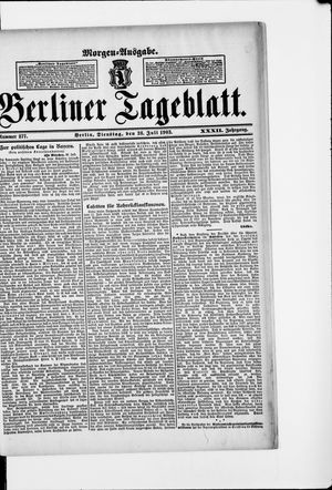 Berliner Tageblatt und Handels-Zeitung vom 28.07.1903