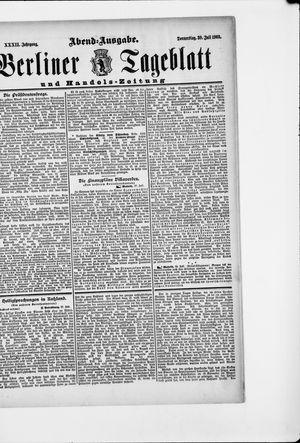 Berliner Tageblatt und Handels-Zeitung vom 30.07.1903