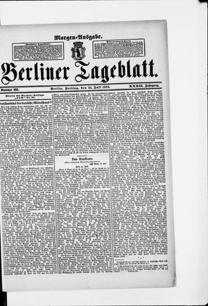 Berliner Tageblatt und Handels-Zeitung vom 31.07.1903