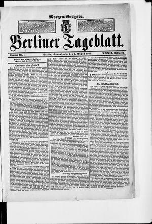 Berliner Tageblatt und Handels-Zeitung vom 01.08.1903