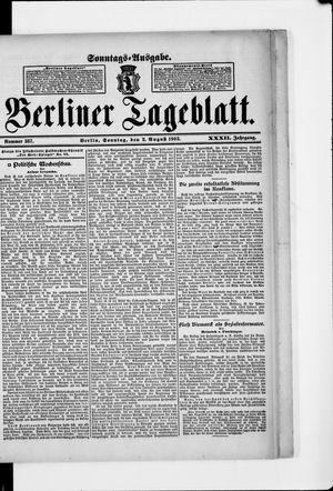 Berliner Tageblatt und Handels-Zeitung vom 02.08.1903