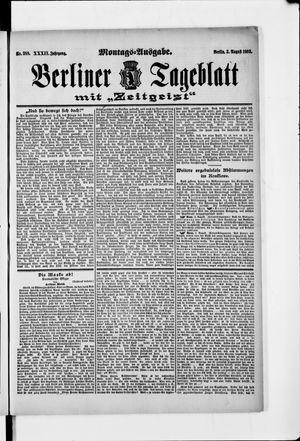 Berliner Tageblatt und Handels-Zeitung vom 03.08.1903