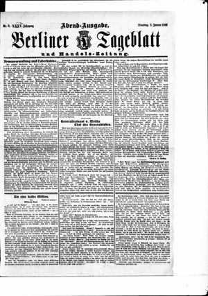 Berliner Tageblatt und Handels-Zeitung vom 02.01.1906