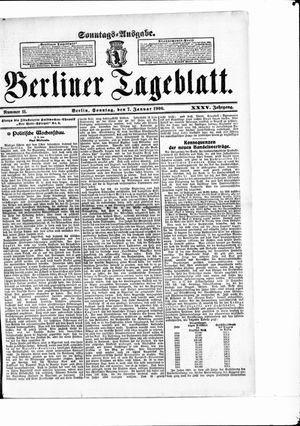 Berliner Tageblatt und Handels-Zeitung on Jan 7, 1906