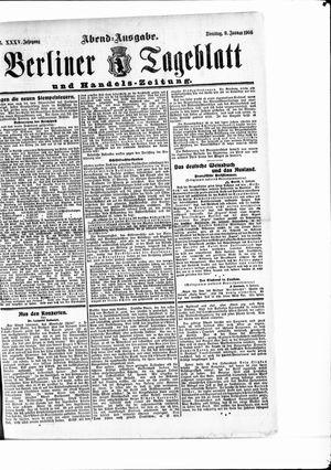 Berliner Tageblatt und Handels-Zeitung vom 09.01.1906