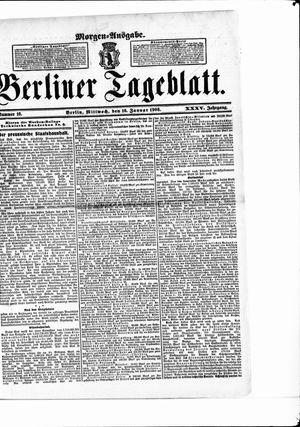 Berliner Tageblatt und Handels-Zeitung vom 10.01.1906