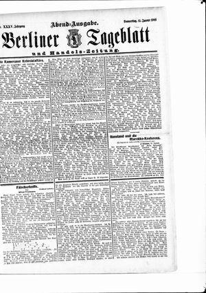 Berliner Tageblatt und Handels-Zeitung vom 11.01.1906